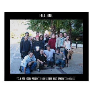 Full Sail Film and Video Production. December 2003 Poster