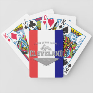 Full Screen Cleveland Ohio Dream Bicycle Playing Cards