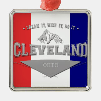 Full Screen Cleveland Ohio Dream Metal Ornament
