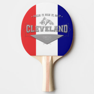 Full Screen Cleveland Ohio Dream Ping Pong Paddle