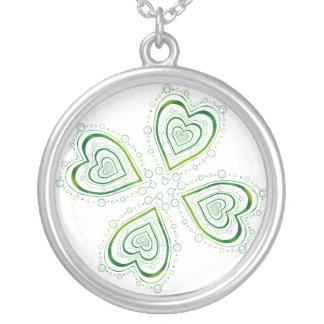 Full Shamrock Round Pendant Necklace