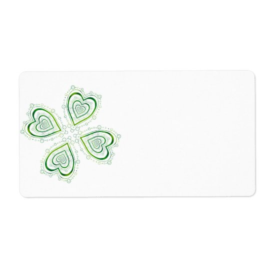 Full Shamrock Shipping Label