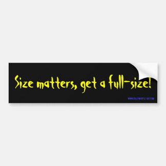 full size bumper sticker