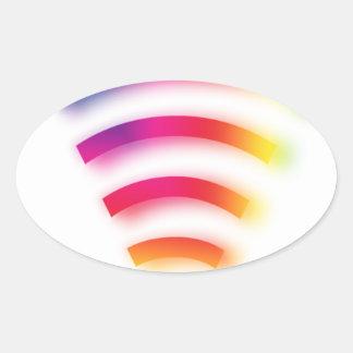 Full Strength WIFI Oval Sticker
