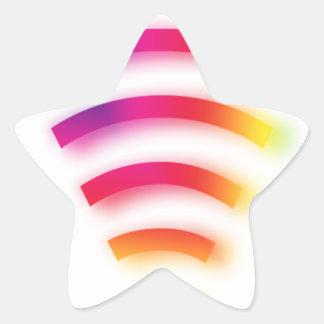 Full Strength WIFI Star Sticker