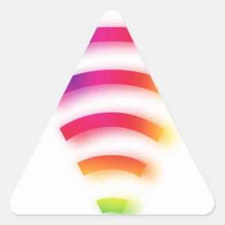 Full Strength WIFI Triangle Sticker
