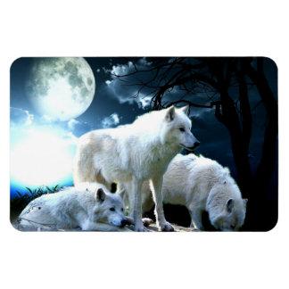Full Wolf Moon Rectangular Photo Magnet