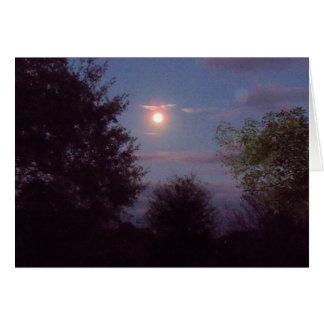 full Wolf moon rising - on a blank card