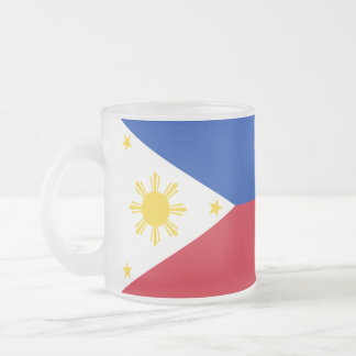 Full-wrap Philippines Flag Frosted Glass Coffee Mug