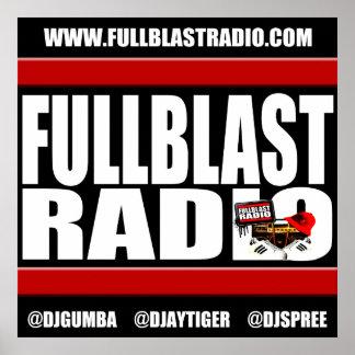Fullblast Radio Banner 2017, 24x24 Poster