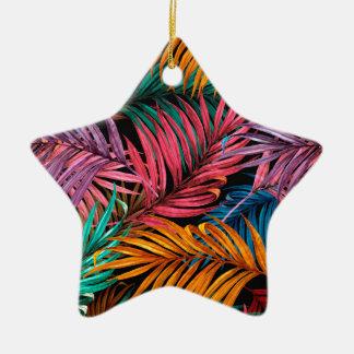 Fullcolor Palm Leaves Ceramic Ornament