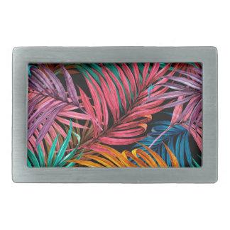 Fullcolor Palm Leaves Rectangular Belt Buckle