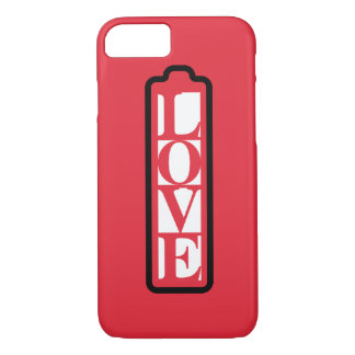 Fully charged of LOVE word iPhone 7 Case