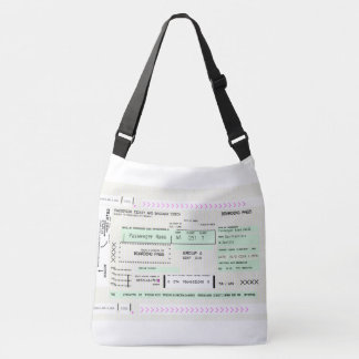 Fully Customizable Airline Ticket Boarding Pass Crossbody Bag