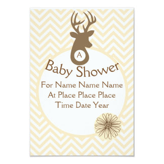 Fully Customizable Chevron Deer Card