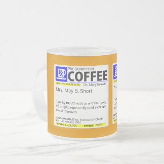 FULLY CUSTOMIZABLE COFFEE PRESCRIPTION FROSTED GLASS COFFEE MUG