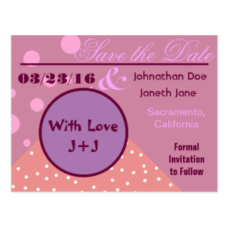 Fully Customizable Cute Save the Date Postcard