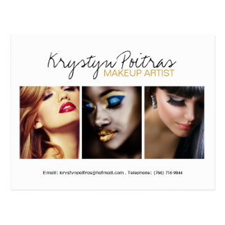 Fully Customizable Makeup Artist Comp Card