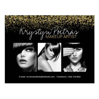 Fully Customizable Makeup Artist Comp Card Postcard