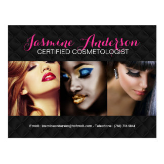 Fully Customizable Makeup Artist Comp Card Postcard
