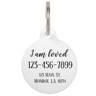 Fully Customizable Pet Tag