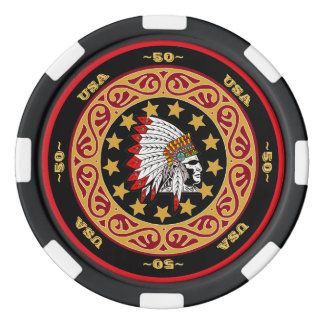 Fully Customizable USA Indian Head Poker Chips
