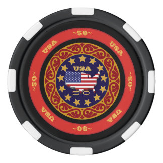 Fully Customizable USA Poker Chips