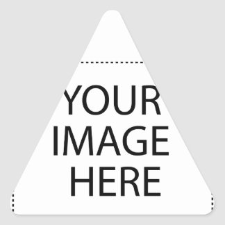 Fully Customizable YOUR IMAGE HERE Triangle Sticker