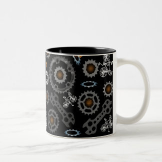 Fully Geared Two-Tone Coffee Mug