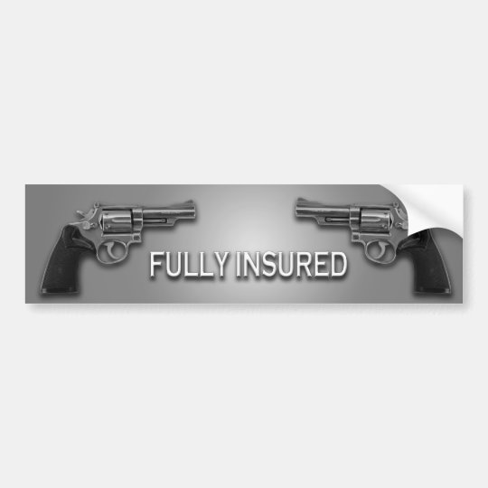 FULLY INSURED BUMPER STICKER