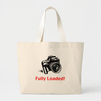 Fully Loaded Camera Large Tote Bag