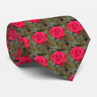 Fully Open Red Rose Tie