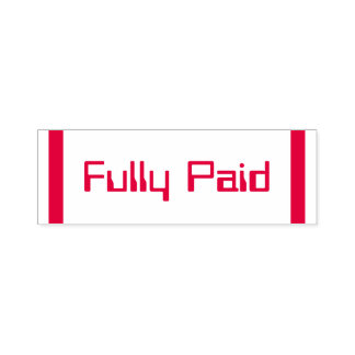 """""""Fully Paid"""" Rubber Stamp"""
