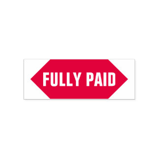"""FULLY PAID"" Rubber Stamp"