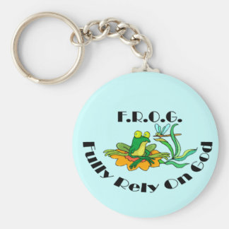Fully Rely On God Keychain