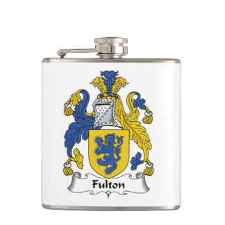 Fulton Family Crest Hip Flask