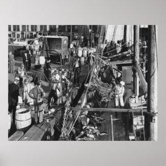 Fulton Fish Market: 1939 Poster