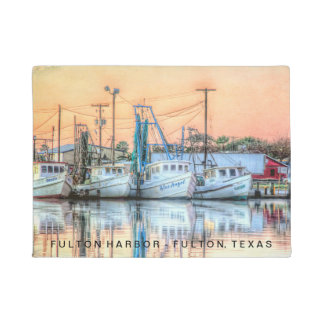 """Fulton Harbor Icons"" Doormat"