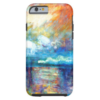 Fumée de Monet dans le brouillard Coque Tough iPhone 6