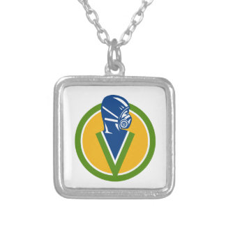 Fumigation Pest Control Service Icon Silver Plated Necklace