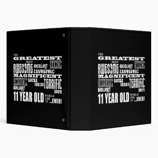 Fun 11th Birthday Party Greatest Eleven Year Old Binder