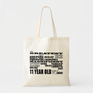 Fun 11th Birthday Party Greatest Eleven Year Old Budget Tote Bag