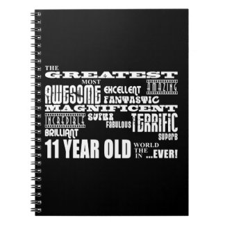 Fun 11th Birthday Party Greatest Eleven Year Old Spiral Notebooks