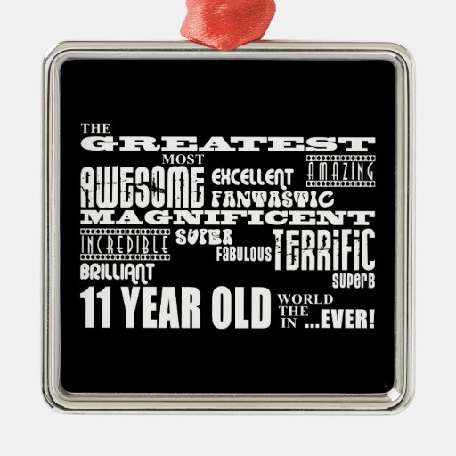Fun 11th Birthday Party Greatest Eleven Year Old Ornament