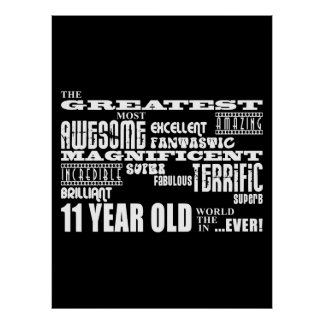 Fun 11th Birthday Party Greatest Eleven Year Old Poster