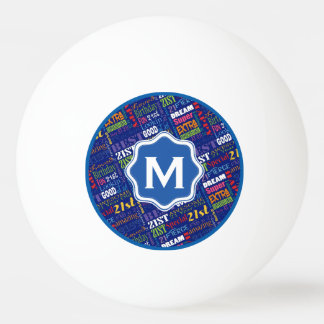 Fun 21st Birthday Party Personalized Monogram Ping Pong Ball