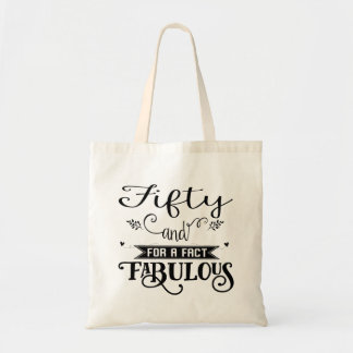Fun 50 and Fabulous Fun Party Tote Bag