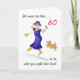 Fun 60th Birthday Card For A Woman