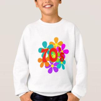 Fun 70's Flowers Sweatshirt