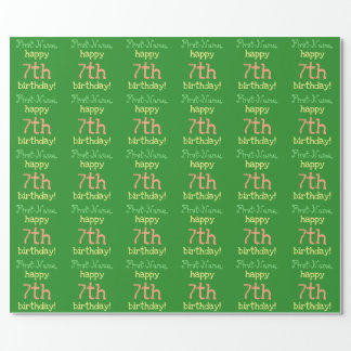 Fun 7th Birthday Wrapping Paper